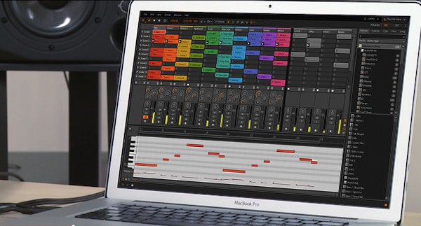 Bitwig on laptop