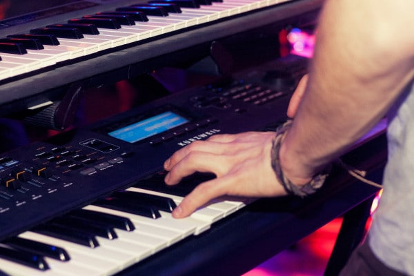 in the studio piano