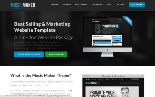 Music Maker Theme Review