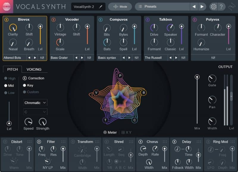 Screenshot of VocalSynth2