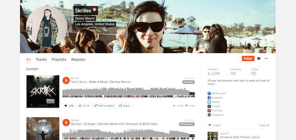 Example Soundcloud Profile