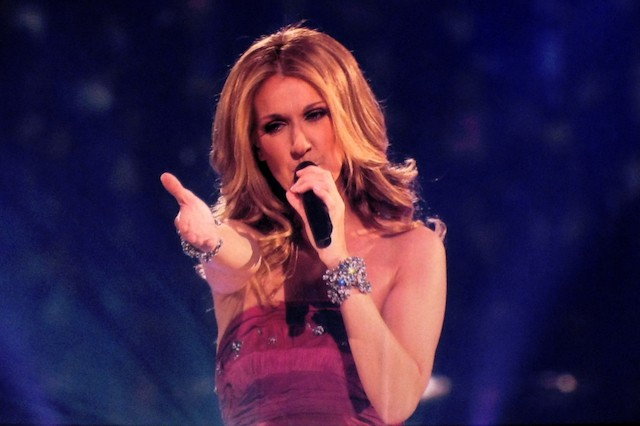Celine Dion, the talented singer, performs at a concert.