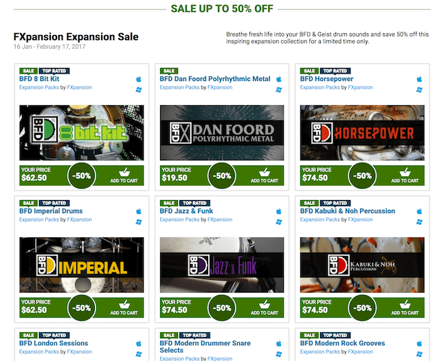 Big sale on FXpansion plugins