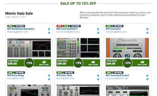 Metric Halo is having a great deal on all of their plugins