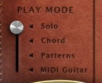 Playing modes in Sunbird